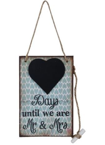 "Clayre & Eef  Kreidetafel ""until we are Mr&Mrs"""