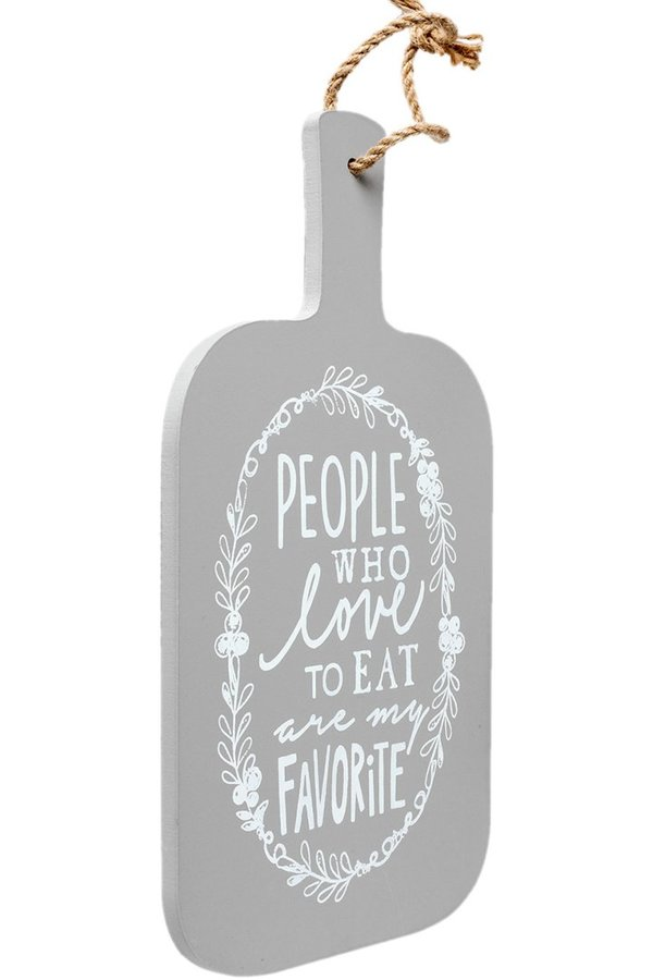 "Clayre & Eef  Wandschild ""People who love to eat"""
