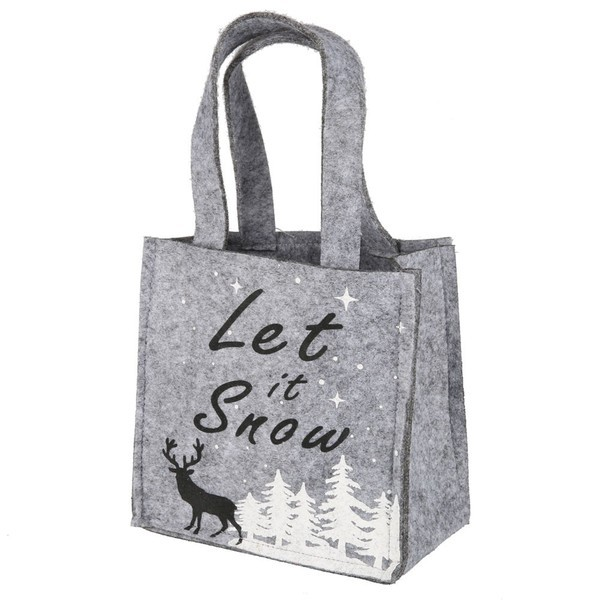 "Filztasche ""Let it snow"""