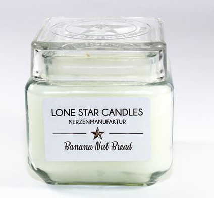 "Duftkerze Lone Star Candles ""Banana Nut Bread"" groß"