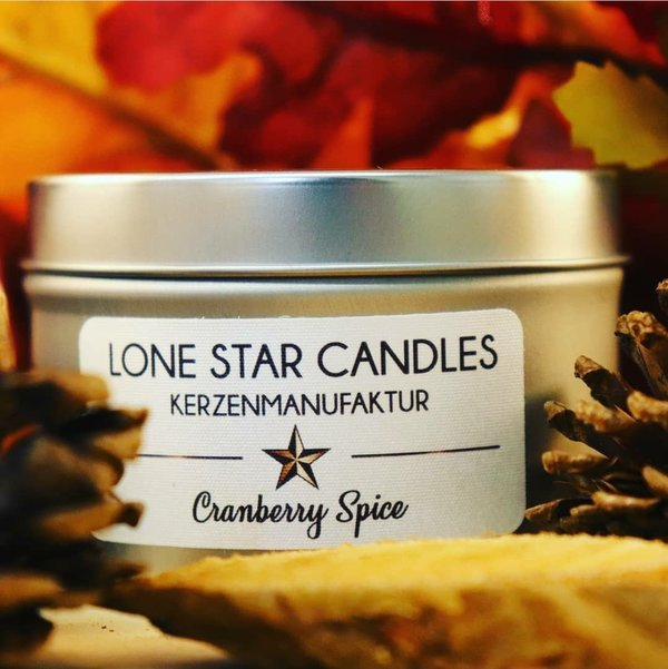 "Duftkerze Lone Star Candles ""Cranberry Spice"" klein"
